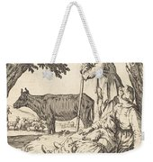 Peasant Couple With Cow Weekender Tote Bag