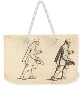 Peasant With Hat In Hand Weekender Tote Bag