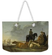 Peasants And Cattle By The River Merwede Weekender Tote Bag