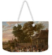 Peasants Dancing And Feasting Weekender Tote Bag