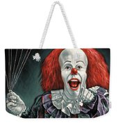 pennywise the dancing clown or bob gray painting by jorge terrones pennywise the dancing clown or bob gray weekender tote bag