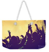 People With Hands Up In Night Club Weekender Tote Bag