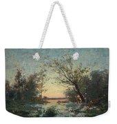Per Ekstrom, French Landscape In Sunset. Weekender Tote Bag