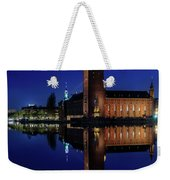 Perfect Stockholm City Hall Blue Hour Reflection Weekender Tote Bag