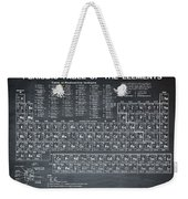 Periodic Table Of Elements In Black Weekender Tote Bag
