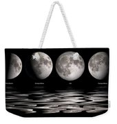 Phases Of The Moon Weekender Tote Bag
