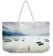 Phewa Lake In Pokhara, Nepal Weekender Tote Bag