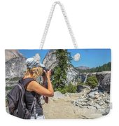 Photographer In Yosemite Waterfalls Weekender Tote Bag