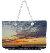 Pier Sunset Weekender Tote Bag