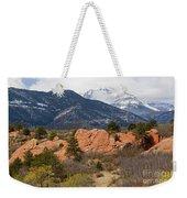 Pikes Peak From Red Rocks Canyon Weekender Tote Bag