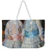 Pink And Blue Weekender Tote Bag
