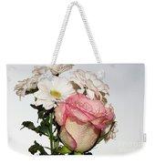 Pink And White Weekender Tote Bag
