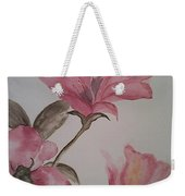 Pink Floral Weekender Tote Bag by Ginny Youngblood