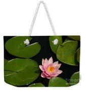 Pink Lotus Waterlily Weekender Tote Bag