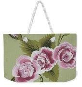 Pink Miniature Roses Weekender Tote Bag