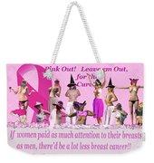 Pink Out Weekender Tote Bag