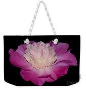 Pink Peony Petals Weekender Tote Bag
