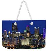 Pittsburgh Night Skyline Weekender Tote Bag