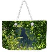 Pocket Lake Weekender Tote Bag