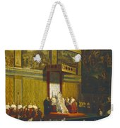 Pope Pius Vii In The Sistine Chapel Weekender Tote Bag