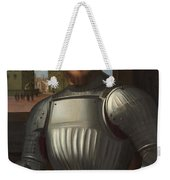 Portrait Of A Man In Armour Weekender Tote Bag