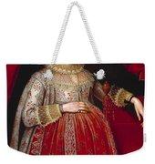 Portrait Of A Woman In Red Weekender Tote Bag