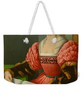 Portrait Of A Woman With A Book Of Music Weekender Tote Bag