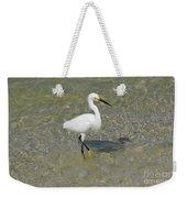 Posing White Egret Bird Weekender Tote Bag
