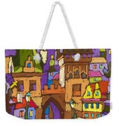 Prague Charles Bridge 01 Weekender Tote Bag