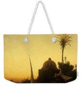Praying To Mecca Weekender Tote Bag by Herman David Salomon Corrodi