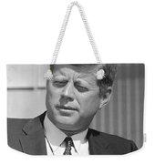 President John Kennedy Weekender Tote Bag by War Is Hell Store