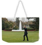 President Obama - White House South Lawn #1 Weekender Tote Bag