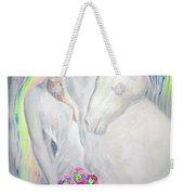 Princess And Unicorn Weekender Tote Bag