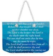 Psalm 121 Weekender Tote Bag