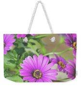Purple Aster Flowers Weekender Tote Bag