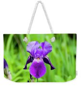 Purple Bearded Iris Weekender Tote Bag
