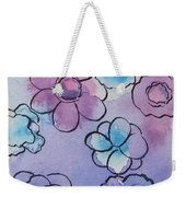 Purple Explosion Weekender Tote Bag