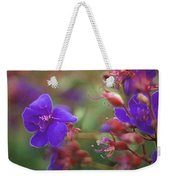 Purple Flowers Weekender Tote Bag
