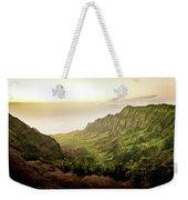 Puu O Kila Lookout, Kauai, Hi Weekender Tote Bag by T Brian Jones
