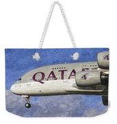 Qatar Airlines Airbus A380 Art Weekender Tote Bag