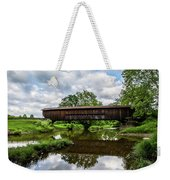 Quiet Serenity Of A Ohio Backcountry Covered Bridege Weekender Tote Bag