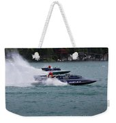 Racing Hydroplanes Boats On The Detroit River For Gold Cup Weekender Tote Bag