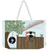 Rainbow Bridge Cats Weekender Tote Bag