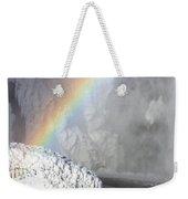 Rainbow Over Skogarfoss Waterfall Weekender Tote Bag