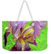 Raindrops On Purple And Yellow Iris Weekender Tote Bag