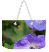 Raindrops On Purple Weekender Tote Bag