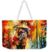 Rainy Kiss Weekender Tote Bag