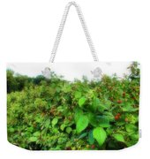 Raspberry Fields 2  Weekender Tote Bag
