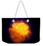 Realistic Fire Explosion, Orange Color With Smoke And Sparks Weekender Tote Bag