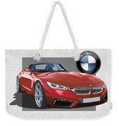 Red 2018 B M W  Z 5 With 3 D Badge  Weekender Tote Bag